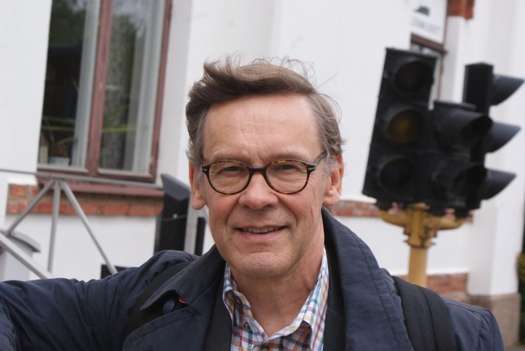 Anders Johnsson som under 2015 samlar in fakta till en ny biografi om Gustaf Dalén. BILD: ELIN ANDERSSON