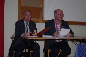Mötesordförande Carl-Eric Gabrielsson och mötessekreterare Bo Köhler. FOTO: ROLAND NILSSON