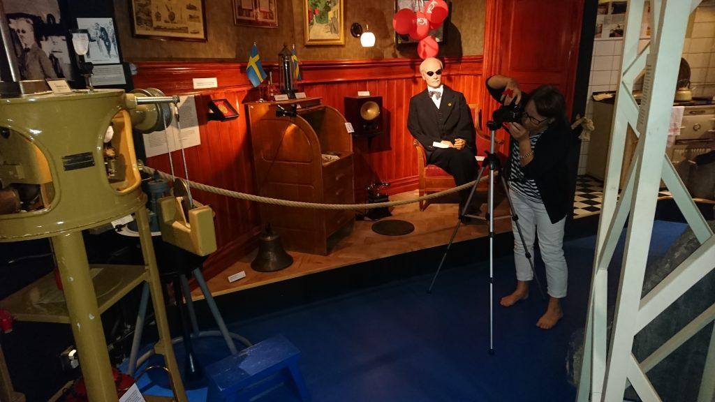Kicki Rask är utställningsformgivare för Hammarö skärgårdsmuseum och växte upp i en fyrvaktarfamilj. BILD: ELIN ANDERSSON